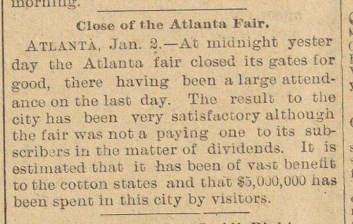 Close Of The Atlanta Fair image