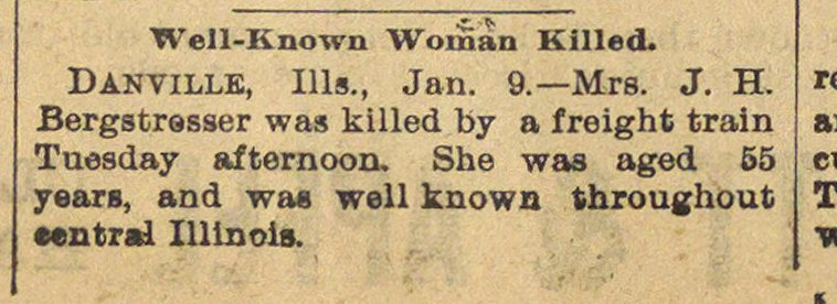Well-known Woman Killed image
