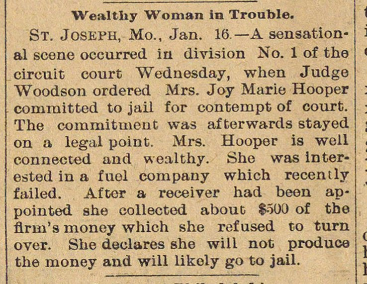 Wealthy Woman In Trouble image