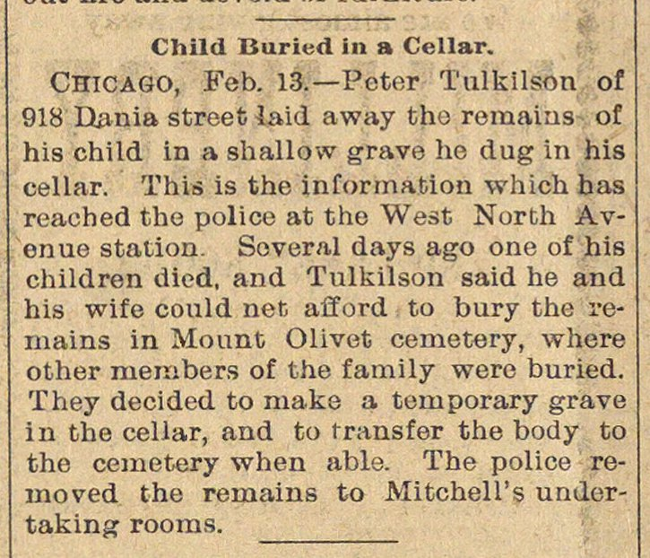 Child Buried In A Cellar image