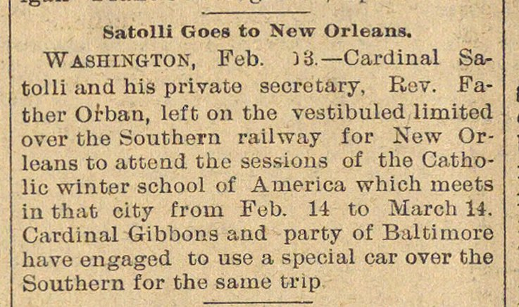 Satolli Goes To New Orleans image