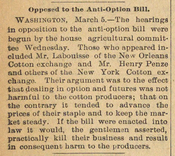 Opposed To The Anti-option Bill image