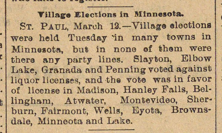 Village Elections In Minnesota image