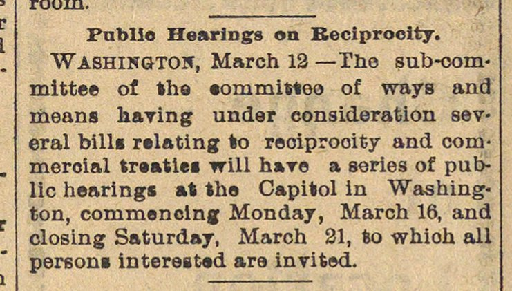 Public Hearings On Reciprocity image