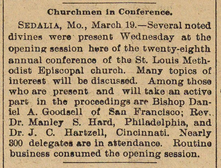 Churchmen In Conference image