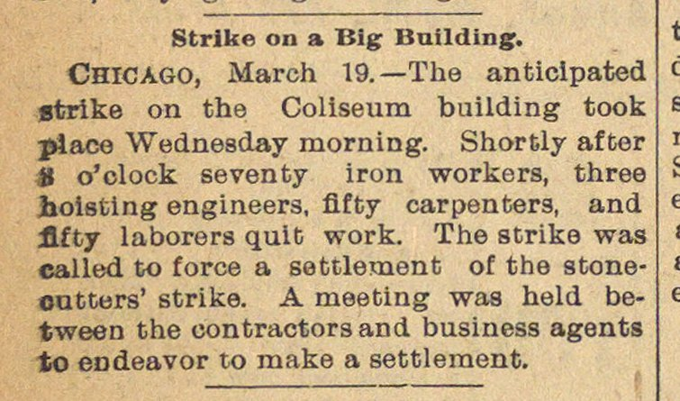 Strike On A Big Building image