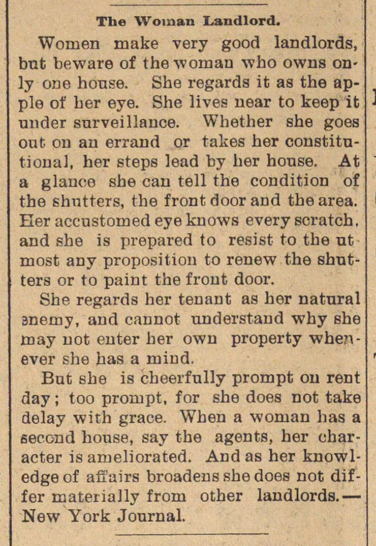 The Woman Landlord image