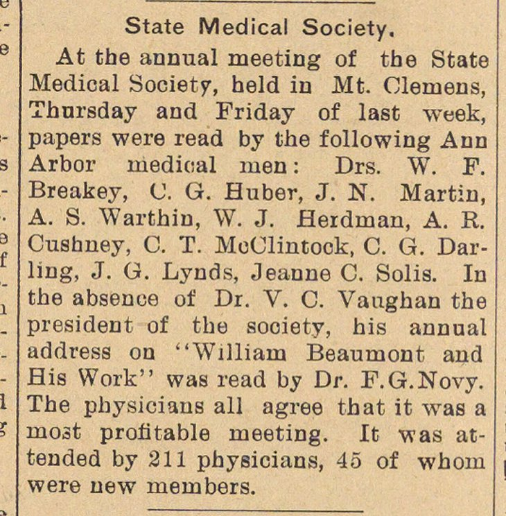 State Medical Society image
