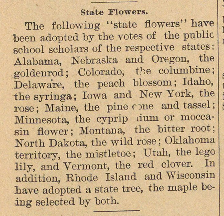 State Flowers image