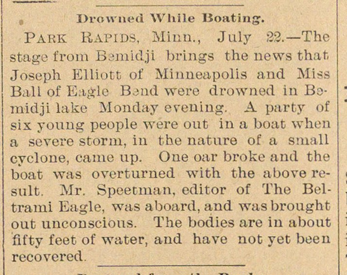 Drowned While Boating image