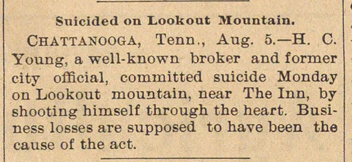 Suicided On Lookout Mountain image