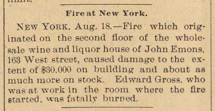 Fire At New York image