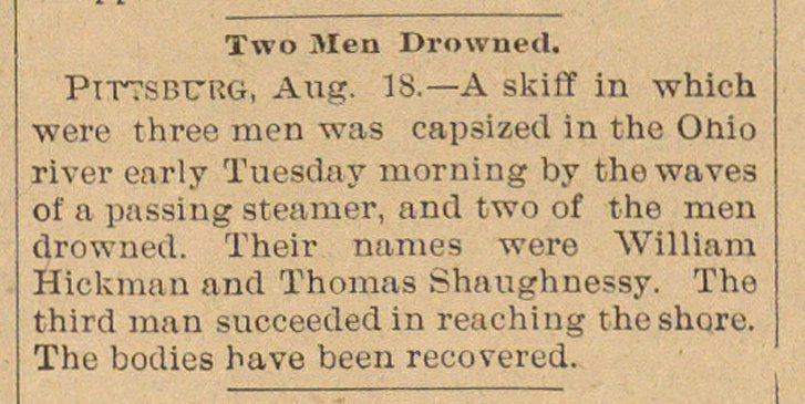 Two Men Drowned image
