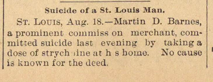Suicide Of A St. Louis Man image