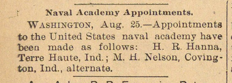 Naval Academy Appointments image