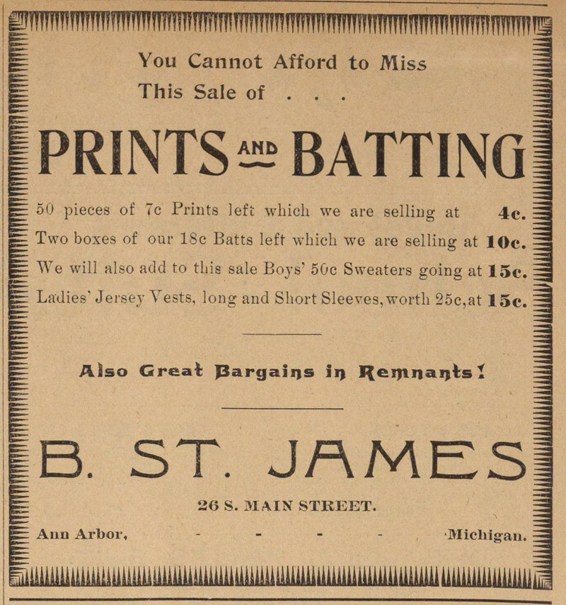 Prints And Batting image