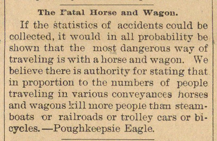 The Fatal Horse And Wagon image