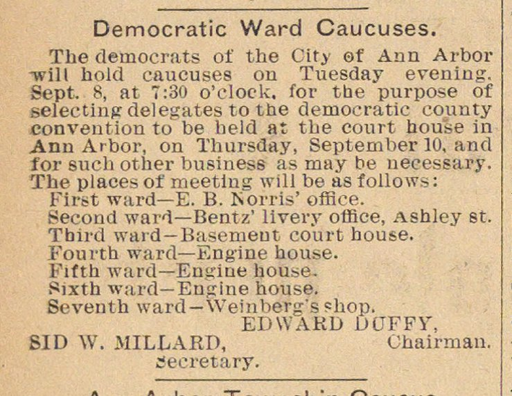 Democratic Ward Caucuses image