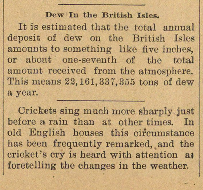 Dew In The British Isles image