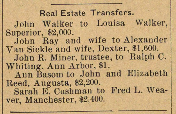 Real Estate Transfers image