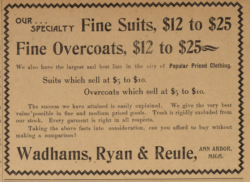 Fine Overcoats, $12 To $25 image