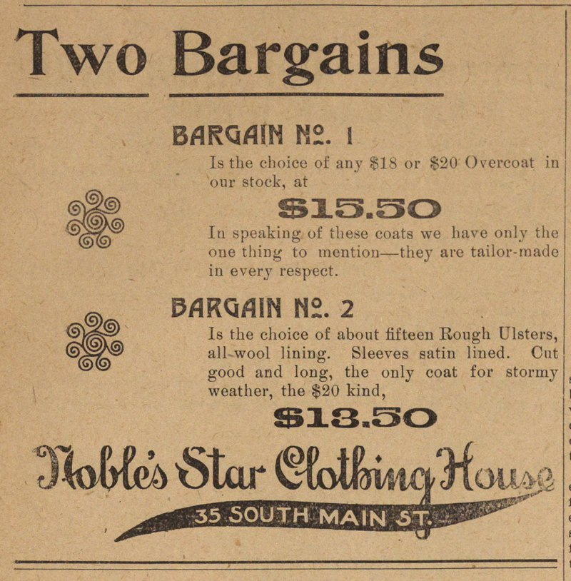 Two Bargains image