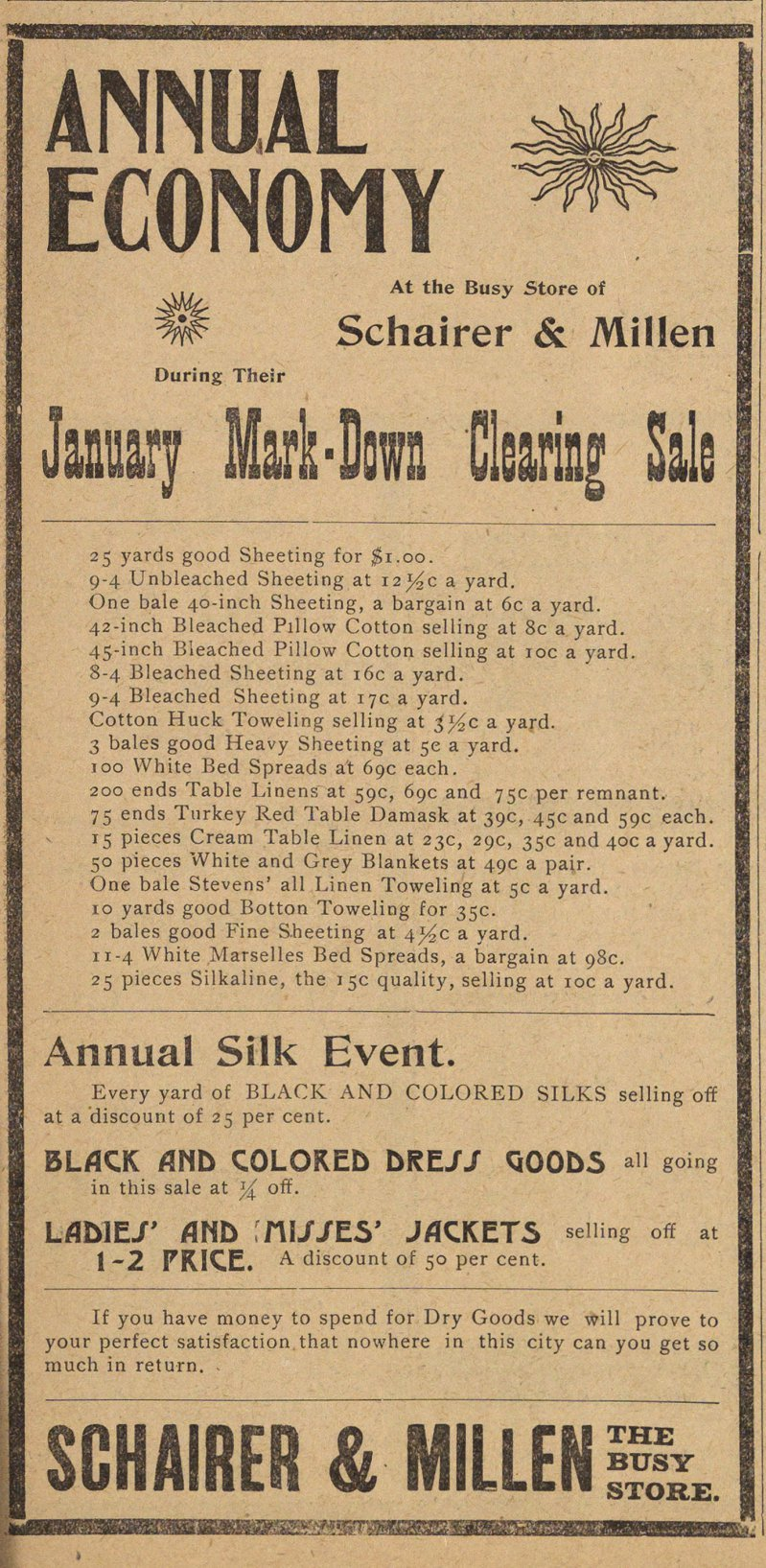 January Mark-down Clearing Sale image
