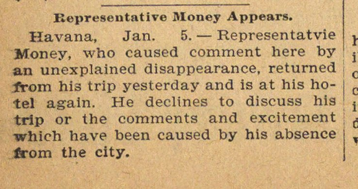 Representative Money Appears image