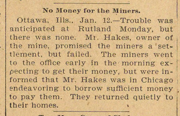 No Money For The Miners image