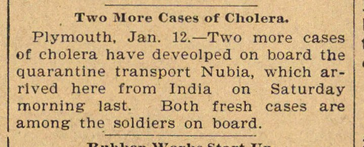 Two More Cases Of Cholera image
