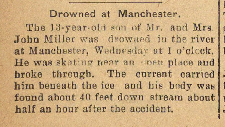 Drowned At Manchester image