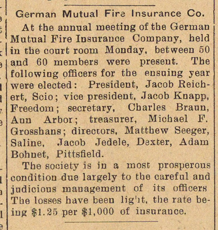 German Mutual Fire Insurance Co. image