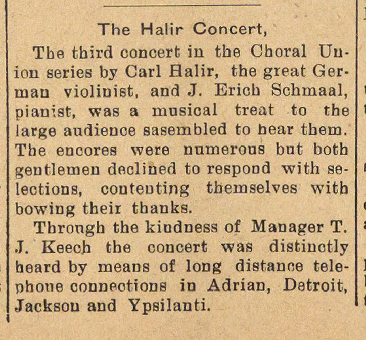 The Halir Concert image