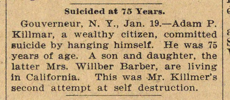Suicided At 75 Years image