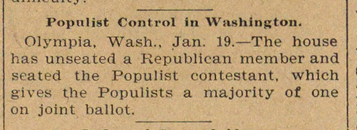 Populist Control In Washington image