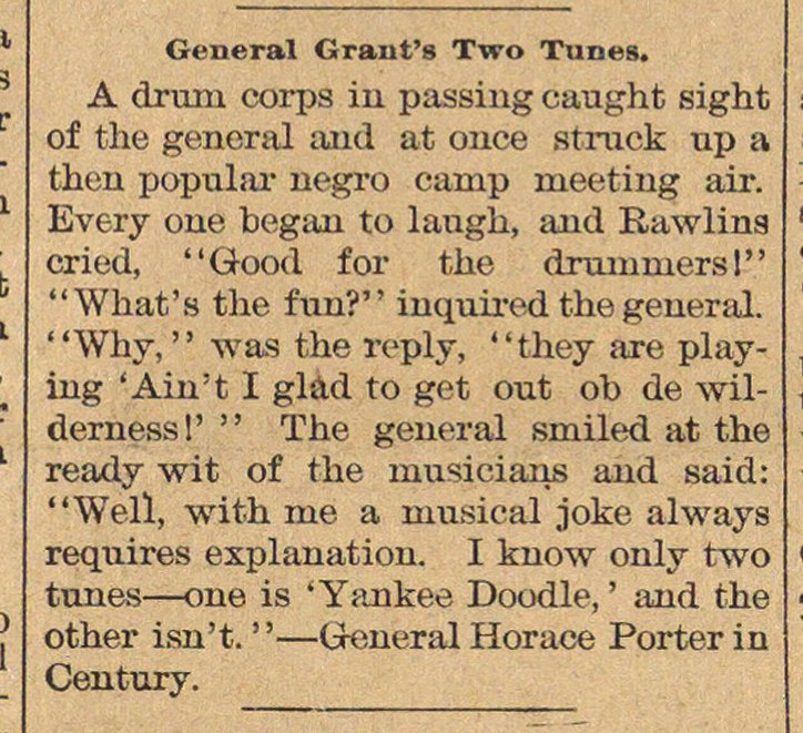 General Grant's Two Tunes image