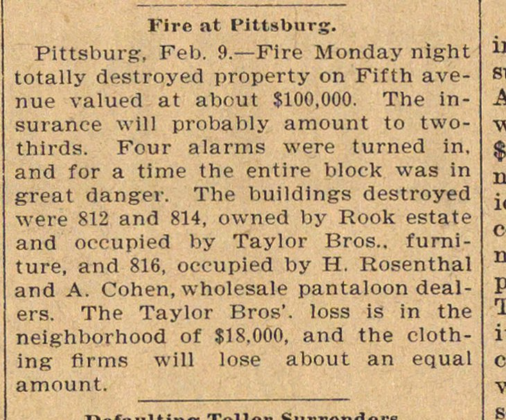 Fire At Pittsburg image