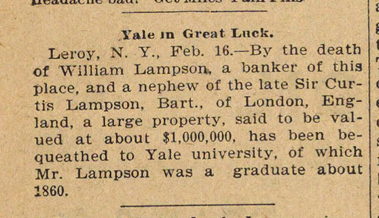 Yale In Great Luck image