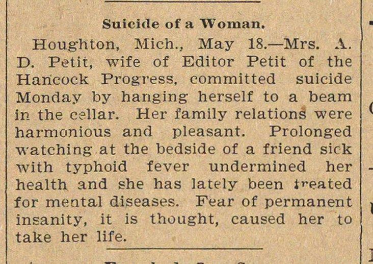 Suicide Of A Woman image