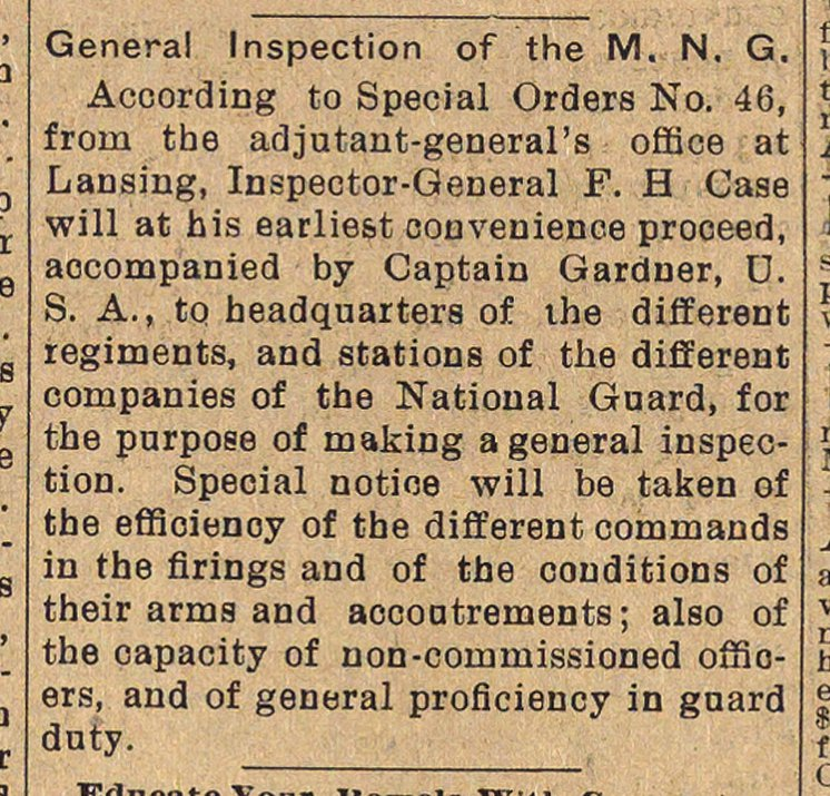 General Inspection Of The M. N. G. image