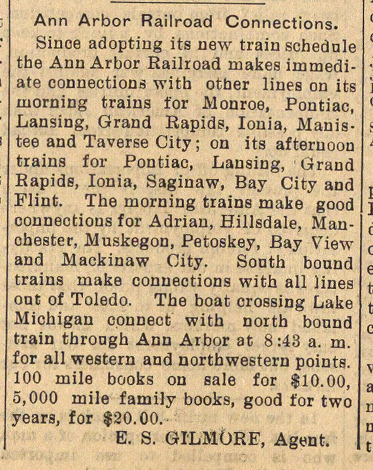 Ann Arbor Railroad Connections image