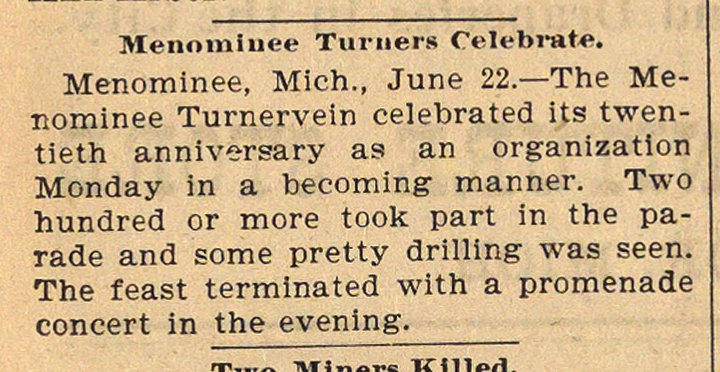 Menominee Turners Celebrate image