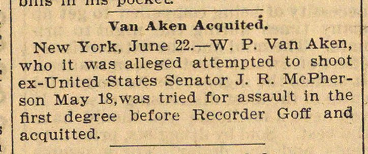 Van Aken Acquited image