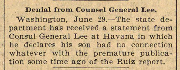 Denial From Counsel General Lee image