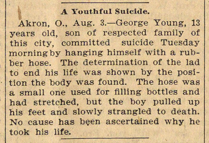 A Youthful Suicide image