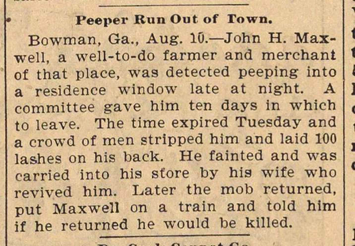 Peeper Run Out Of Town image