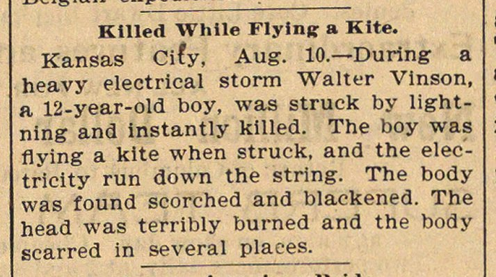 Killed While Flying A Kite image
