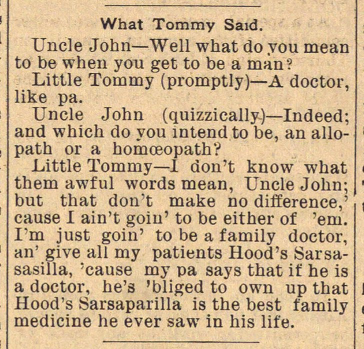 What Tommy Said image