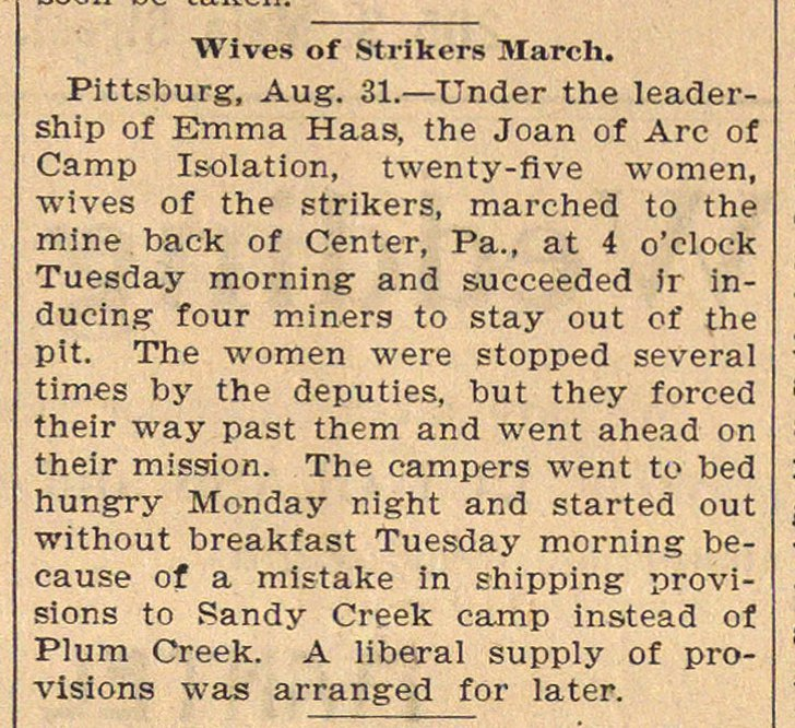Wives Of Strikers March image