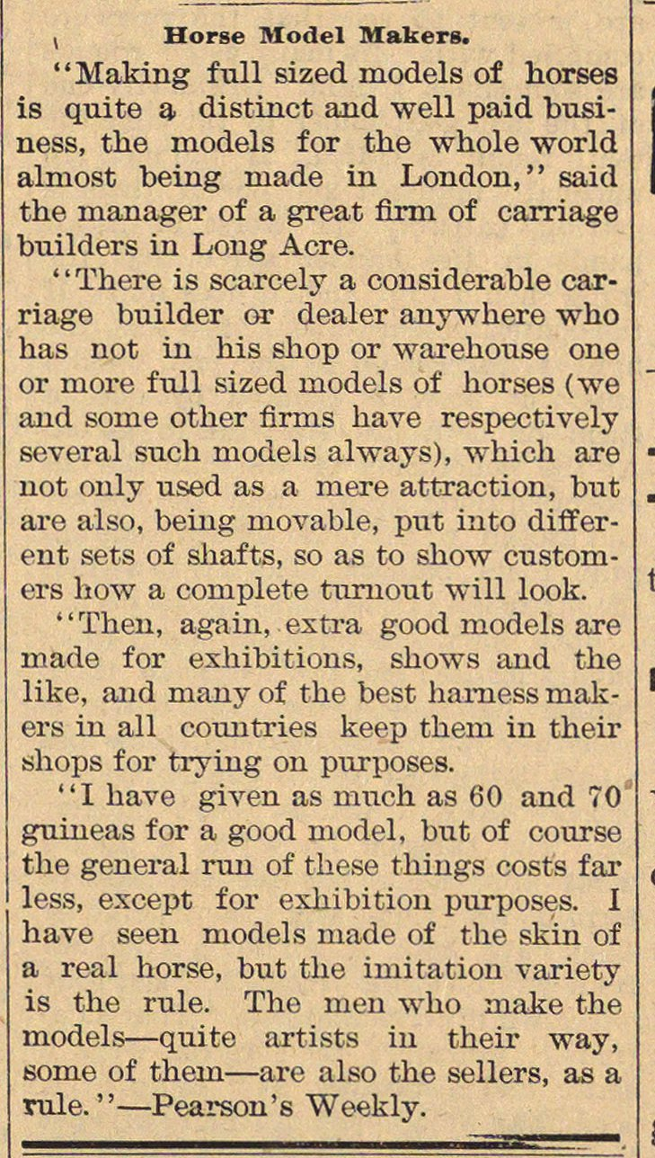 Horse Model Makers image